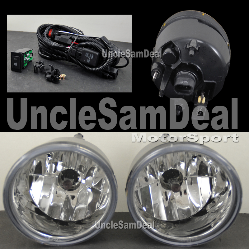 for nissan titan armada oe look clear chrome fog light replacement kit pair ebay